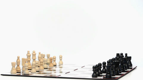 Chess game rotating Stock Video Footage