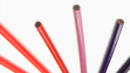Bottom of color pencils turning Stock Video Footage