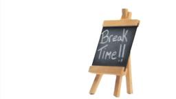 Phrase Break Time written on a blackboard Stock Video Footage