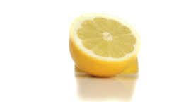 Two halves of lemon rotating Stock Video Footage