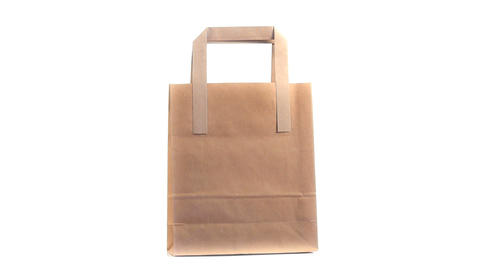 Brown shopping bag rotating Footage