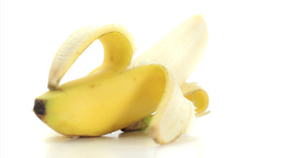 Open banana rotating Stock Video Footage
