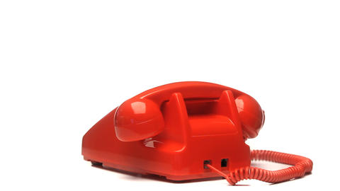 Red phone rotating Stock Video Footage