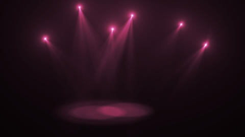 0548 Stage Lights Moving with Alpha Stock Video Footage