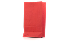 Red shopping bag turning on itself Stock Video Footage