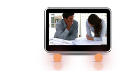 Discussions shown on mobile screen Stock Video Footage