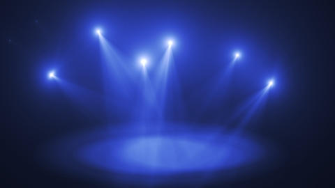 Amazing Stage Lights Flashing + Alpha Stock Video Footage