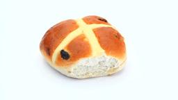 Hot cross bun rotating Footage