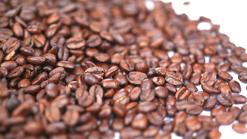 Coffee beans turning Stock Video Footage