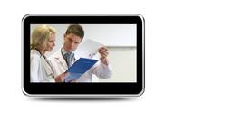 Montage of doctors examining xrays Animation