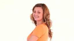 Attractive woman posing Footage