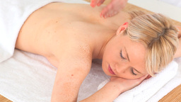 Young woman having a massage Stock Video Footage