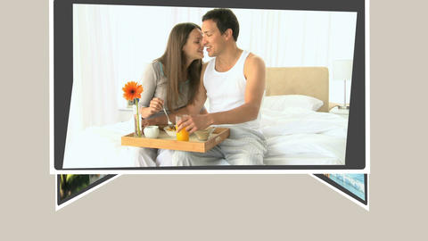 Montage of young couples having an enjoyable time together Animation