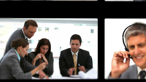 Montage of business meetings Animation