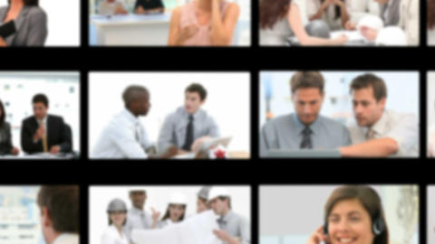 Montage of business meetings Stock Video Footage