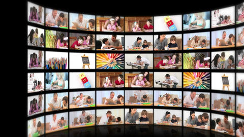 Montage illustrating the educational system Stock Video Footage