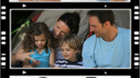Montage of people spending time with their children Animation
