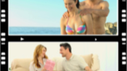 Montage of lovers spending time together, Stock Animation