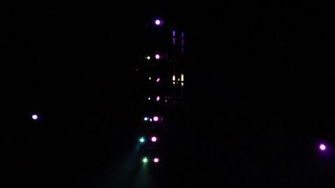 Concert Lights Flashing Stock Video Footage