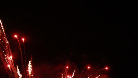 0025 Fireworks in Slow motion Stock Video Footage
