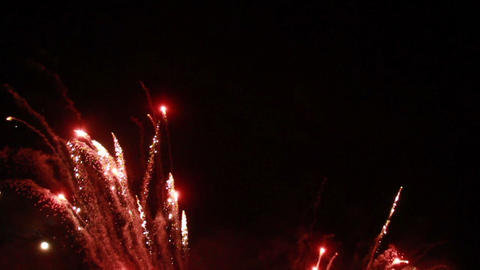 0025 Fireworks in Slow motion Footage