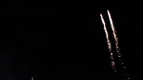 0026 Fireworks in Slow motion Stock Video Footage