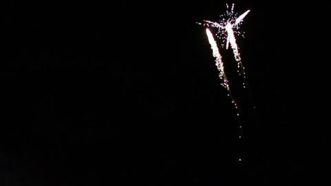 0026 Fireworks in Slow motion Footage