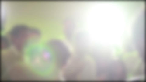 Party DJ Lights, People Dancing at Night Stock Video Footage