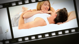 Montage of couples in several situations Stock Video Footage