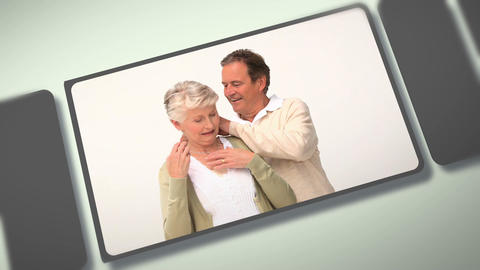 Montage of elderly people sharing moments together Animation