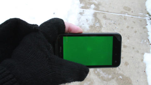 Using a Smart Phone with a Green-Screen ビデオ