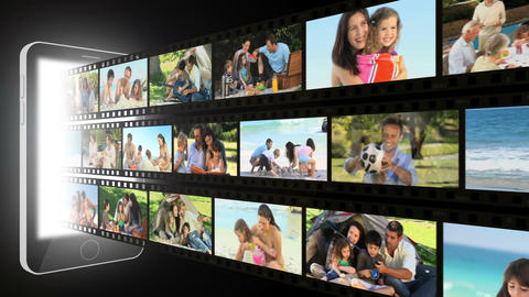 Montage of families moments outdoors Stock Video Footage