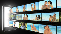 Montage of active couples Stock Video Footage