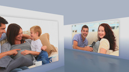 Montage of pregnant families Animation