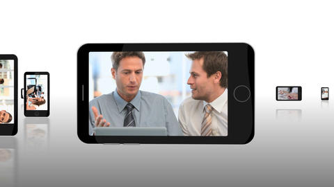Montage of business people exchanging Stock Video Footage