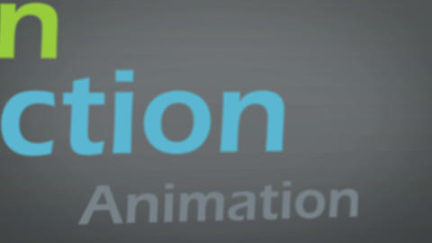 Animation about multimedia concepts Stock Video Footage