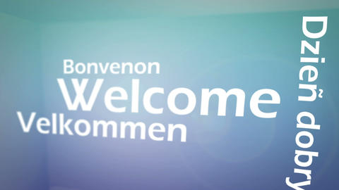 Welcome animation Stock Video Footage