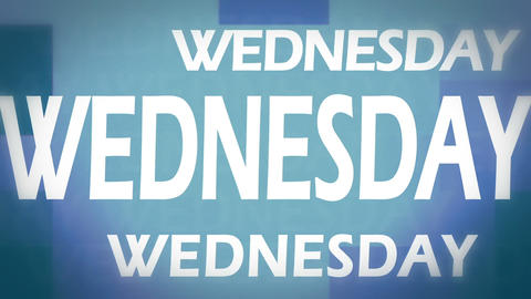 Wednesday animation Stock Video Footage