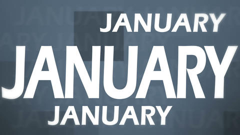 3d January Animation Stock Video Footage