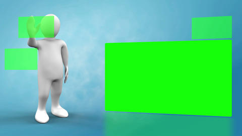 3D Animation on green fields Animation