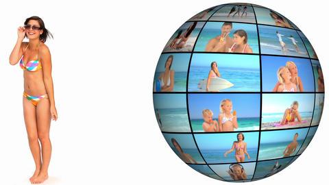 3D Animation on Beach Holidays Animation