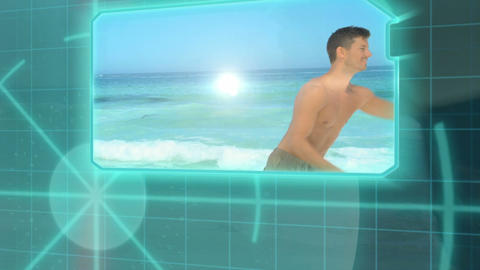 3D Animation on Beach Sports Stock Video Footage