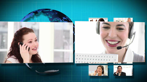 3D Animation of Business Communication Stock Video Footage