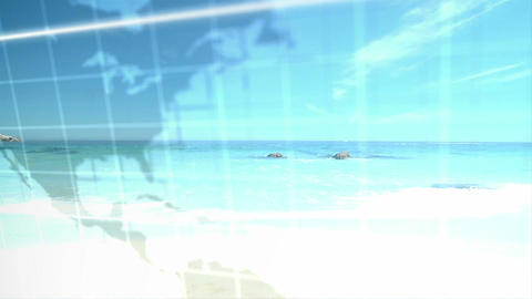 3D Animation of Couples at the Beach Stock Video Footage