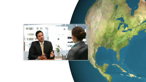 Montage of Businesspeople Stock Video Footage