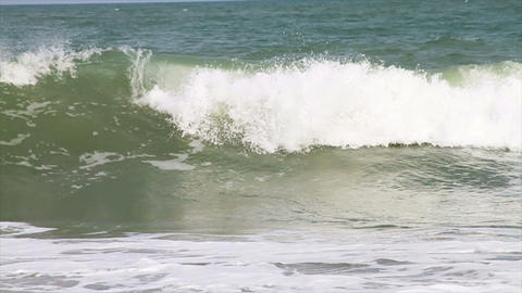 Ocean Waves Crashing, Slow Motion Stock Video Footage