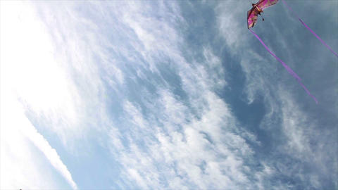 0101 Flying kite Stock Video Footage
