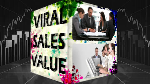 3D Animation Of Online Marketing Concepts stock footage