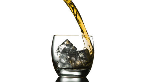 Pouring Whiskey on Ice Animation