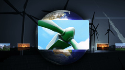 Hand choosing clips about green energie Animation